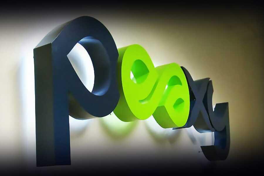 Объемные буквы с подсветкой контражур офисная вывеска