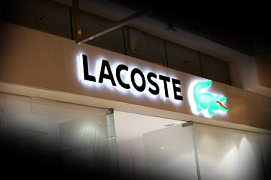 Вывеска контражур Lacoste