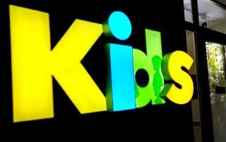 Световая вывеска Kids